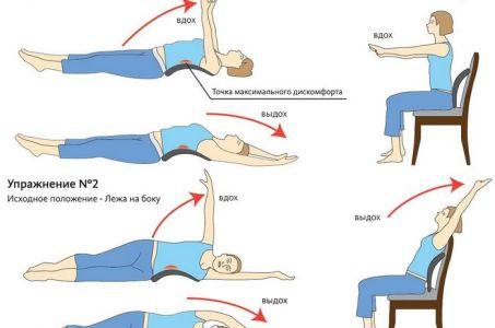 Базовые упражнения для лечения грудного остеохондроза