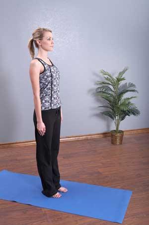 йога аенгара упражнение тадасана